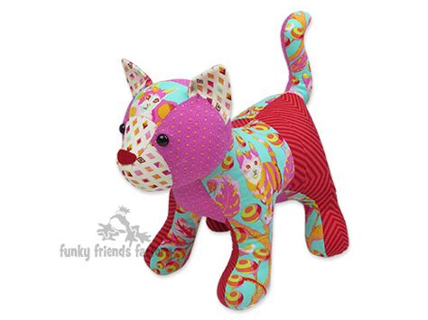 Patchwork Toys Free Patterns - new patch cat pattern funky friends factory