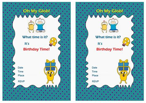 adventure time printable party decorations birthday printable the world largest collection of