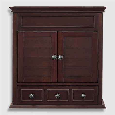 espresso wood maryella bathroom medicine cabinet world