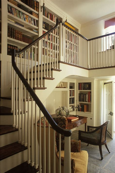 library staircase great reading area under the stairs content in a cottage