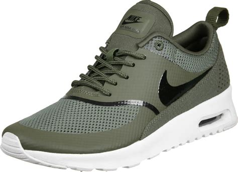 nike air max thea  shoes olive white