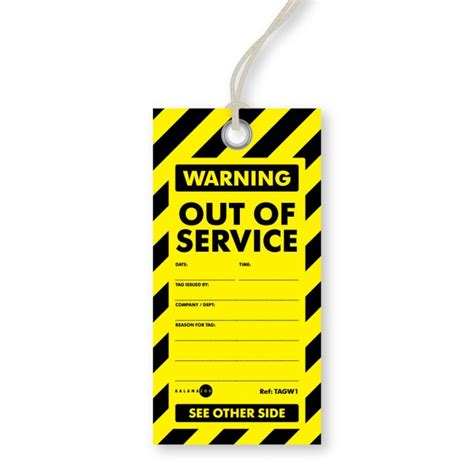 printable danger tags out of service tags kalamazoo