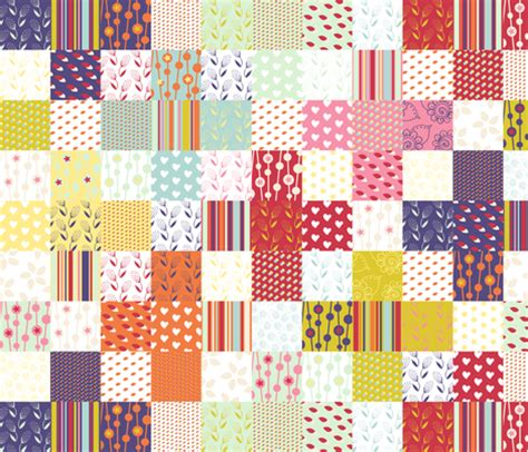 Cheater Quilt Fabric by Plus Sign Cheater Quilt Fabric Radianthomestudio