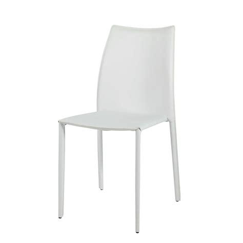 chaise blanche bois chaise en cuir recycl 233 et bois blanche klint maisons du