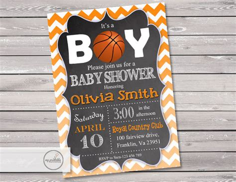 Basketball Baby Shower Invitations by Basketball Baby Shower Invitation Digital Printable Sports