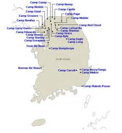 map korea installations