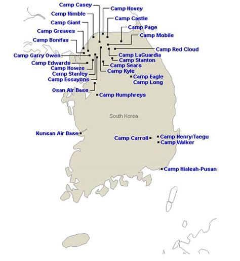 us air bases in korea map pollutants found at us base in s korea possible orange