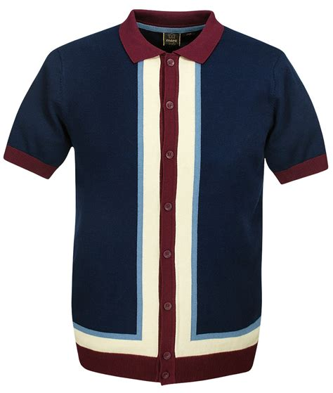 knit polo shirts merc navy rainham intarsia knit polo t shirt