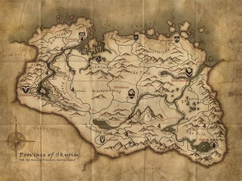 map of skyrim high resolution skyrim maps gamingreality