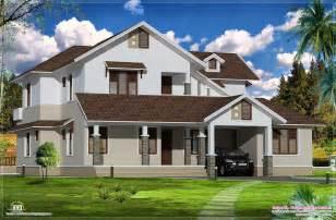 top house plans sloping roof villa exterior elevation house design plans top sloping roof villa thraam com