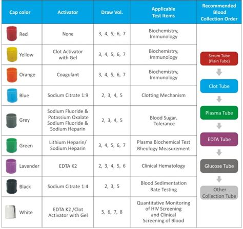 blood collection color guide no additives plain blood test vacuum blood