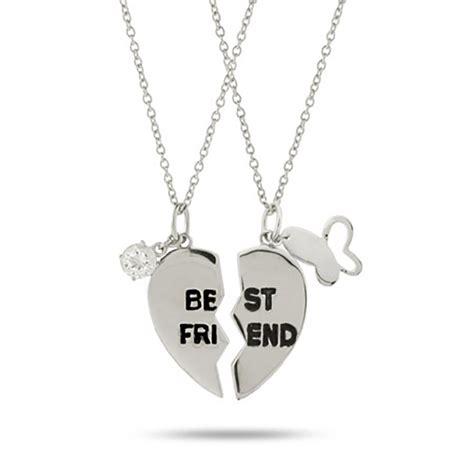 silver friends best friend sterling silver friendship necklace
