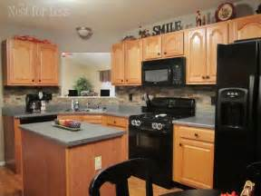 Kitchen Cabinets Backsplash by Gallery For Gt Honey Oak Cabinets Backsplash