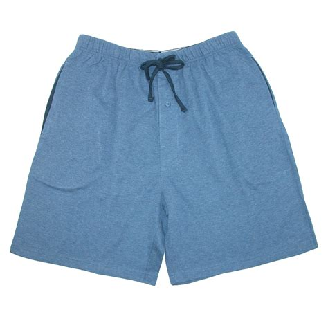 knit sleep shorts new hanes s jersey knit cotton button fly pajama sleep