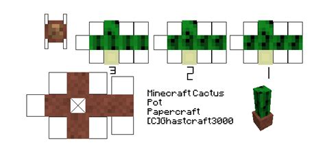 minecraft printable flowers cactus papercraft 28 images 12 great cactus crafts