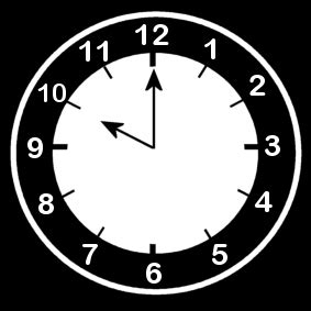 coloring page clock  ten oclock img