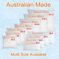 Cushion Size Cushion Inserts Ebay
