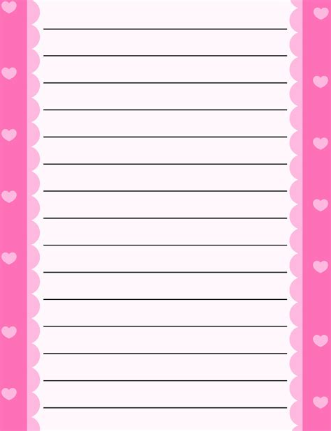 writing paper with borders free printable stationery for free lined