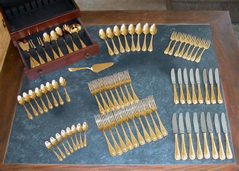 gold plated flatware for sale