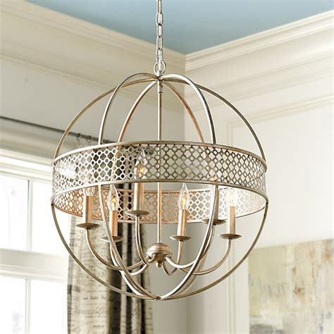 Ballard Design Mirrors marais 6 light orb chandelier traditional chandeliers