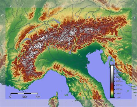 alps mountains map the alps highest mountain range in europe