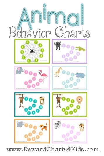 free printable animal reward charts 35 best behavior charts images on pinterest behavior