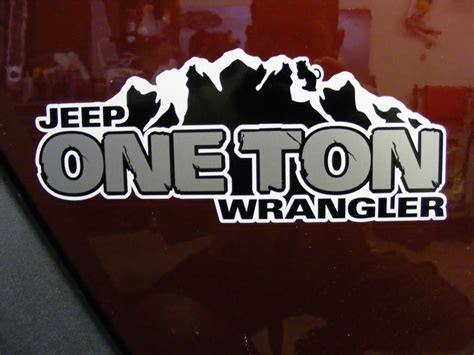 mountain jeep decals 2 jeep rubicon mountain jk hood sticker decal