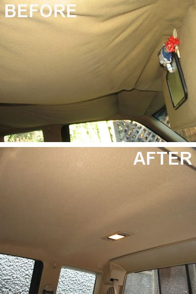 car roof upholstery repair sagging headliners photo courtesy of angies list member