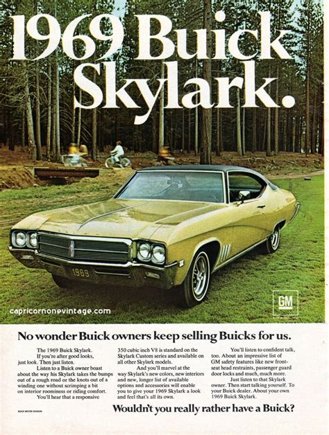 car ads in magazines vintage 1968 buick skylark magazine ad 1969 muscle car gm