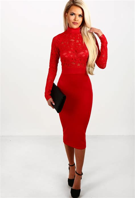 Sleeve Lace Midi Dress totally you sleeve lace top bodycon midi dress