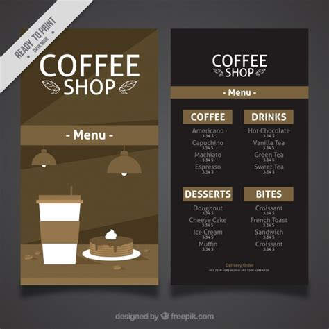 design menu vintage vintage cafe menu in flat design vector free download