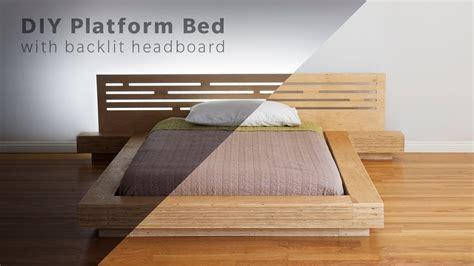 diy modern plywood platform bed part  frame