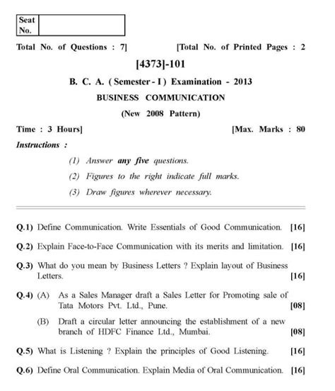 Mba Previous Year Question Papers Pune by Bca Course Previous Year Question Papers 2018 2019