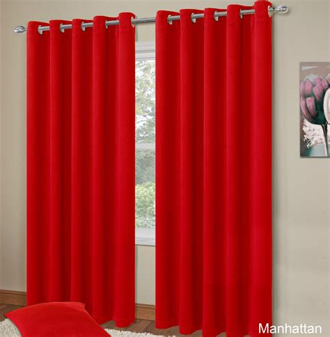 red bedroom curtains plain red colour thermal blackout bedroom livingroom