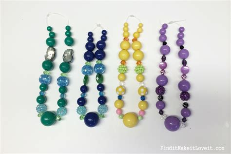 diy bead jewelry diy chunky bead necklace find it make it it