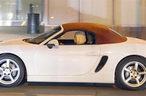 porsche convertible white lady gaga drives a white porsche convertible out in