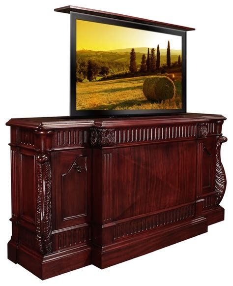 best tv lift cabinet rosella tv lift cabinet by best of houzz 2014 us made