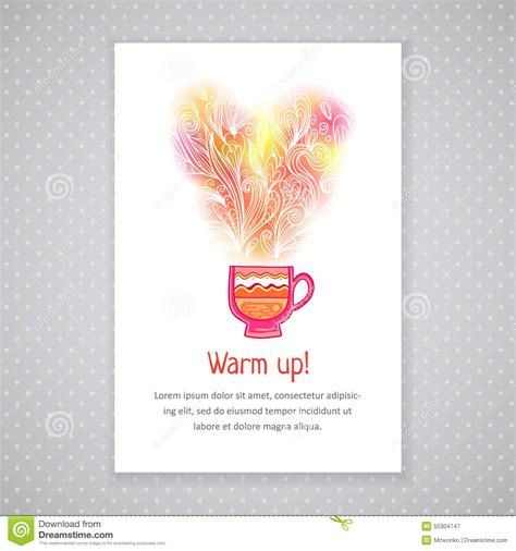 Flower Mug Card Template by Coffee Cup Card Template Stock Vector Image Of Concept
