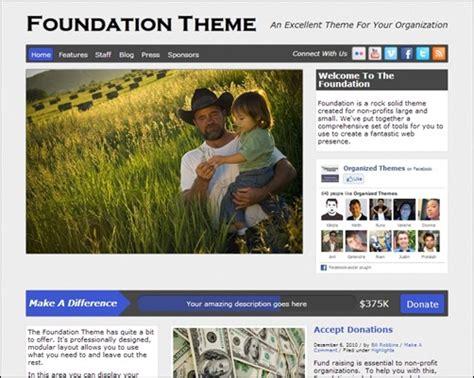 theme foundation 25 nonprofit wordpress themes creative cancreative can
