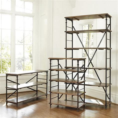 industrial style bookshelves toulouse bookcase industrial bookcases by ballard designs