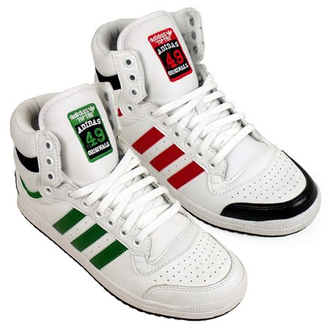 mens adidas top ten  tops basketball boot trainers ankle