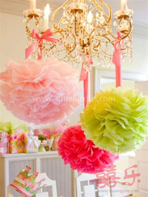 How To Make Paper Pom Pom Decorations - paper pom pom decor many colors available 50