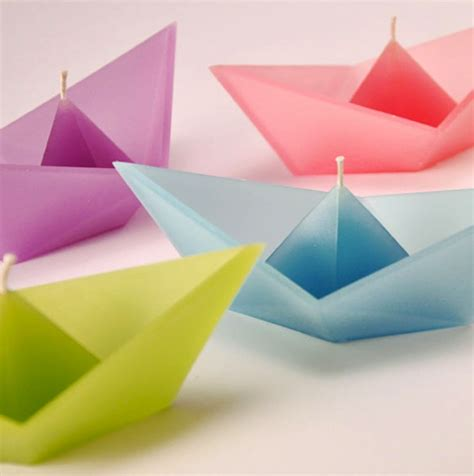 Fancy Origami - fancy floating origami boat candles