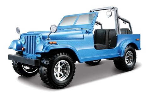 Allthings Jeep All Things Jeep Jeep Cj Blue Diecast Model 1 24 From Maisto
