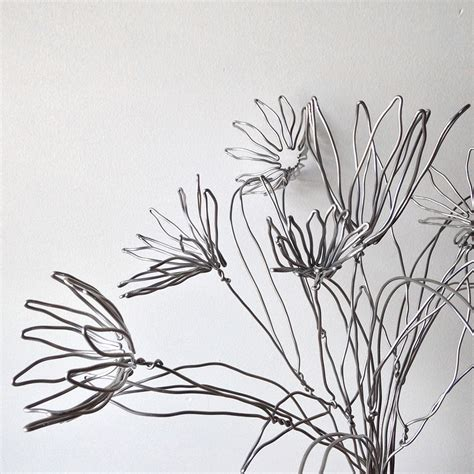 wire flowers wire flowers for an herm 232 s window display bramble workshop