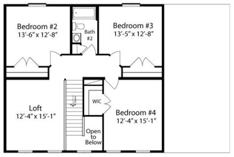 carlo 4 bedroom 2 story by all american homes two story floorplan