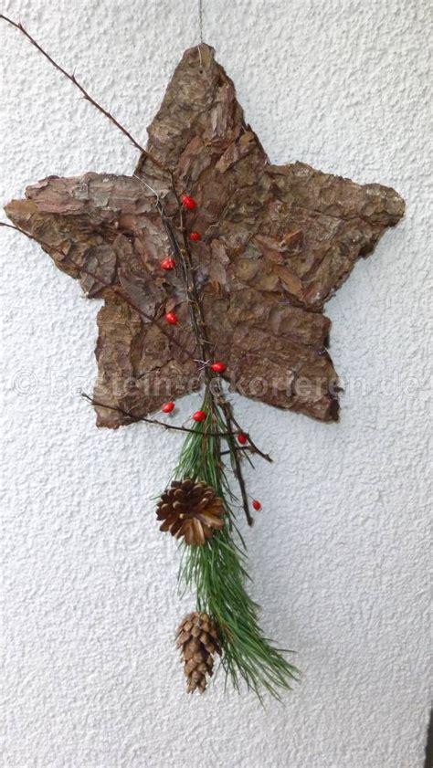 weihnachtsdeko sterne basteln aus baumrinde als weihnachtsdeko basteln und