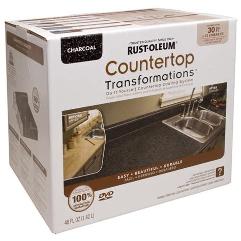 rust oleum 174 countertop transformations charcoal coating