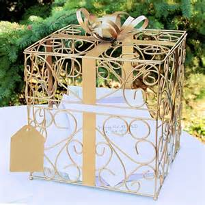 wedding gift boxes for cards gold metal scroll wedding gift card box wedding color