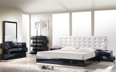 milan black lacquer platform bedroom set from j m 176871